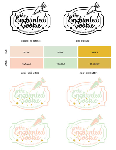 The Enchanted Cookie Logo Style Guide